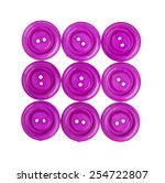 various sewing button on white... | Shutterstock . vector #254722807