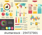 set of colorful infographic...   Shutterstock .eps vector #254727301