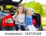two adorable little sisters... | Shutterstock . vector #254729185