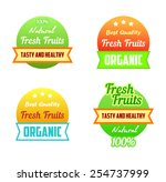 stamp labels of healthy fresh... | Shutterstock .eps vector #254737999