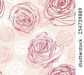 vector pink inspired seamless... | Shutterstock .eps vector #254739889