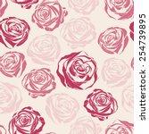 vector pink inspired seamless... | Shutterstock .eps vector #254739895