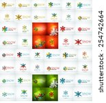 large mega collection of... | Shutterstock .eps vector #254742664