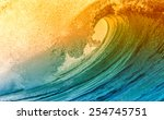 Beautiful Big Ocean Wave With...