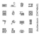 set of vector home appliances... | Shutterstock .eps vector #254748631