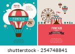 vintage poster with carnival ... | Shutterstock .eps vector #254748841
