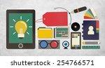 branding name marketing... | Shutterstock . vector #254766571