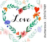 beautiful flower design  ...   Shutterstock .eps vector #254767489