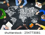 solution solve problem strategy ... | Shutterstock . vector #254773081