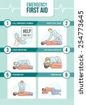 emergency first aid cpr...   Shutterstock .eps vector #254773645