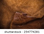 Real Dark Brown Leather And...