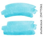 watercolor vector brush strokes ... | Shutterstock .eps vector #254775361