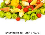various vegetables isolated on...   Shutterstock . vector #25477678