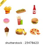 fast food icon set | Shutterstock .eps vector #25478623