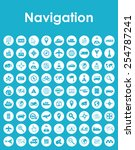 set of navigation simple icons | Shutterstock .eps vector #254787241
