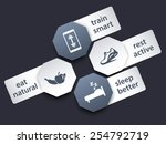 fitness tags with icons set 2 ...