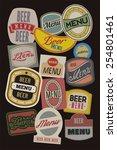 beer menu design with retro... | Shutterstock .eps vector #254801461