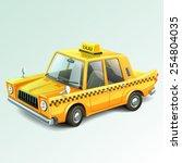 taxi car | Shutterstock .eps vector #254804035