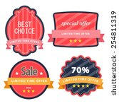 set of web sale labels and... | Shutterstock .eps vector #254811319