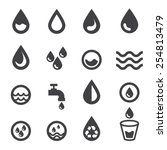 water icon | Shutterstock .eps vector #254813479