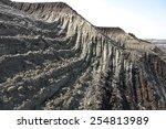 Coal mine view - stock photo