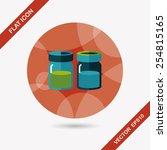 kitchenware sauce bottle flat... | Shutterstock .eps vector #254815165