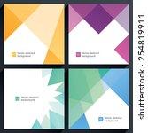 vector geometric backgrounds.... | Shutterstock .eps vector #254819911