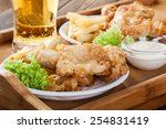 Traditional Fish And Chips Wit...