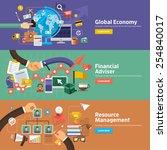 flat design concepts for global ... | Shutterstock .eps vector #254840017