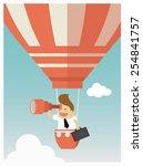investor looks through his... | Shutterstock .eps vector #254841757