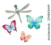 Watercolor Butterflies And...
