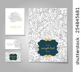 set of templates with floral... | Shutterstock .eps vector #254845681