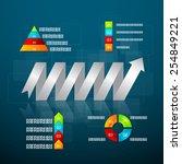 vector illustration timeline... | Shutterstock .eps vector #254849221
