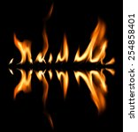 fire abstract background | Shutterstock . vector #254858401