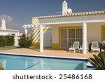 beautiful villa with pool  ...   Shutterstock . vector #25486168