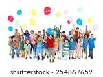 children kids playing... | Shutterstock . vector #254867659