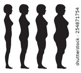 vector fat body  weight loss ... | Shutterstock .eps vector #254871754