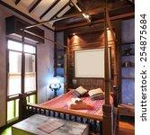 bedroom tropical asian style | Shutterstock . vector #254875684