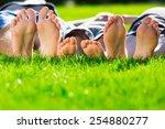 family relaxing on the grass | Shutterstock . vector #254880277