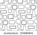 doodle hand drawn frames... | Shutterstock .eps vector #254880841