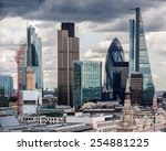the city of london  | Shutterstock . vector #254881225
