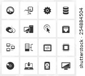 computer hardware vector icons. ... | Shutterstock .eps vector #254884504