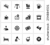 theme park vector icons. file... | Shutterstock .eps vector #254884531