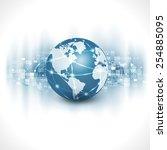 communication world  ... | Shutterstock .eps vector #254885095