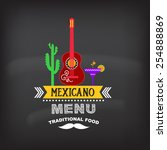Menu Mexican Design.vector...
