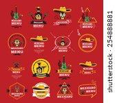 menu mexican design.vector... | Shutterstock .eps vector #254888881