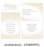 wedding invitation set with... | Shutterstock .eps vector #254890951