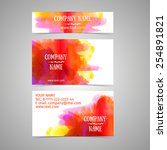 business card template. rad and ... | Shutterstock .eps vector #254891821