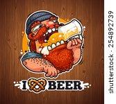 man loves beer poster | Shutterstock .eps vector #254892739