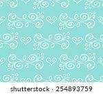 vector floral seamless pattern... | Shutterstock .eps vector #254893759